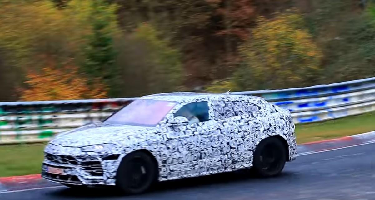 Кроссовер Lamborghini Urus замечен на тестах