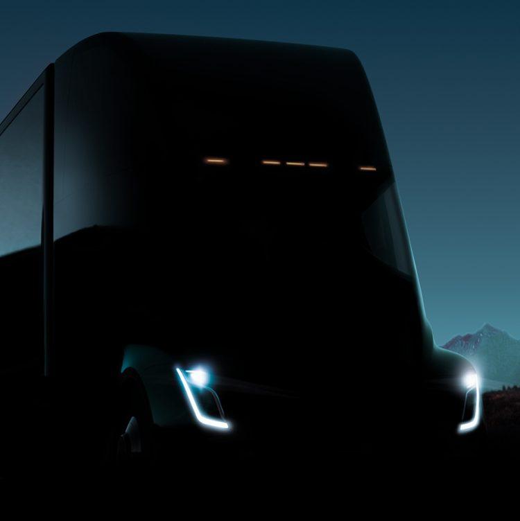 Новые фото электрического грузовика Tesla Semi