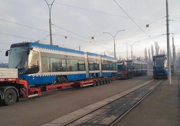 Вукраинскую столицу привезли 12 новых трамваев