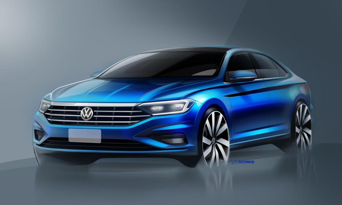Первые официальные изображения Volkswagen Jetta 2019