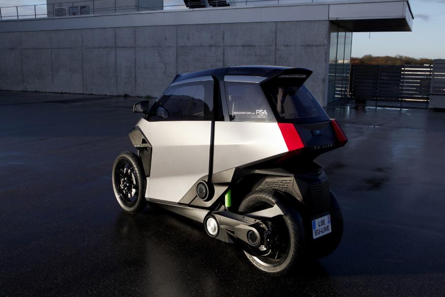Peugeot и Citroen показали гибридный ситикар будущего