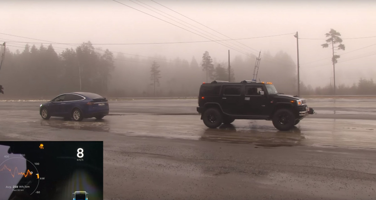 Tesla Model X против Hummer