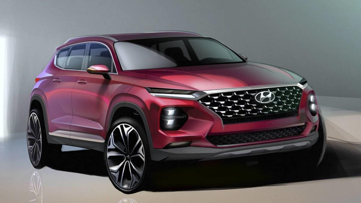 Новые официальные изображения Hyundai Santa Fe 2019