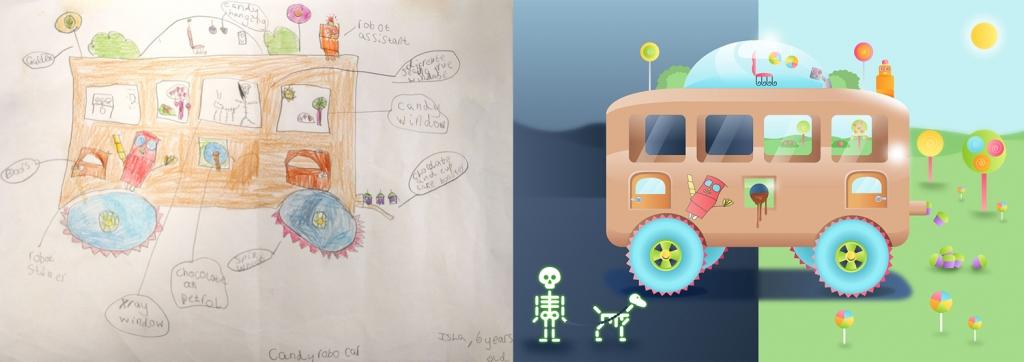 Дети нарисовали автомобили будущего - авто-дом
