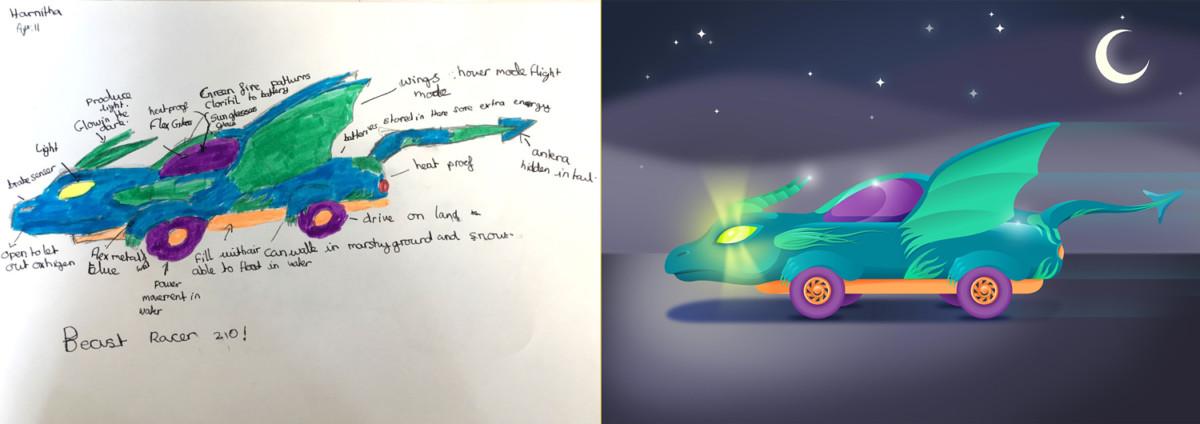 Дети нарисовали автомобили будущего
