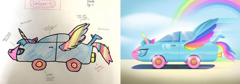 Дети нарисовали автомобили будущего - авто-пони