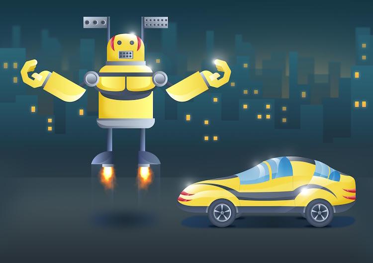 Дети нарисовали автомобили будущего - машина-трансформер