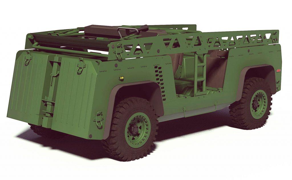 В сложенном состоянии Modular Logistics Vehicle занимает минимум мест и легко может трансопртироваться вертолетами