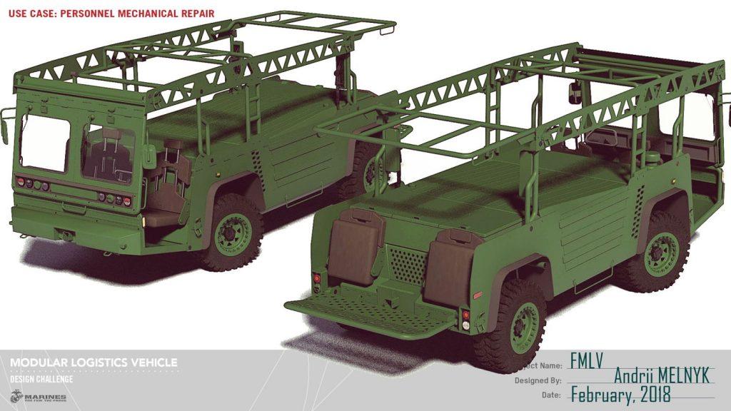 Украинский дизайнер Андрей Мельник разработал раскладное транспортное средство для морских пехотинцев США
