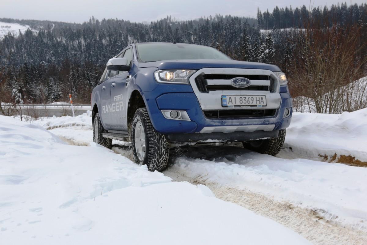 Пикап Ford Ranger испытали суровым карпатским бездорожьем