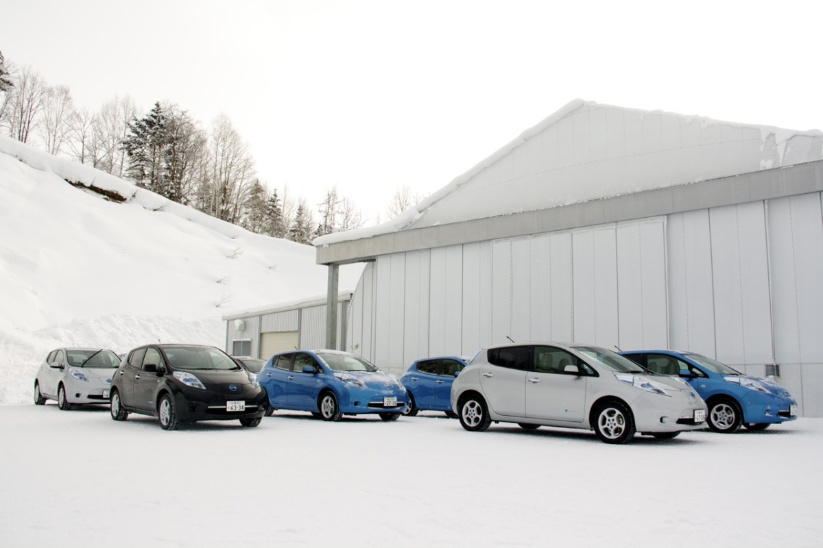 Nissan Leaf зимой