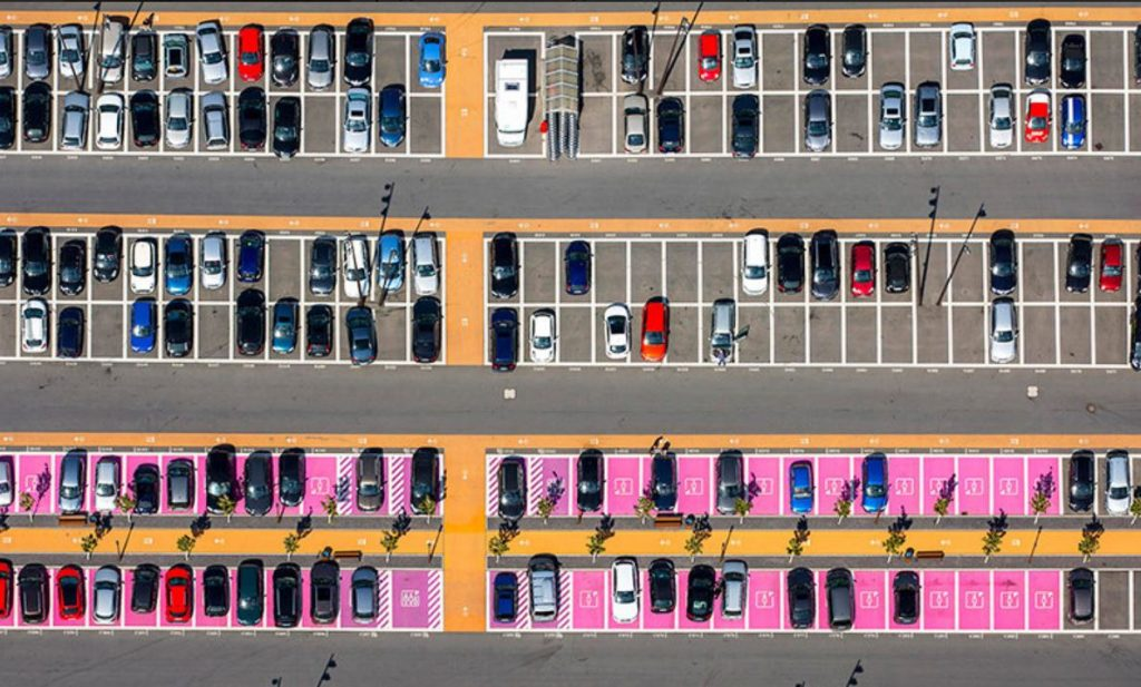 Парковки для женщин вид сверху