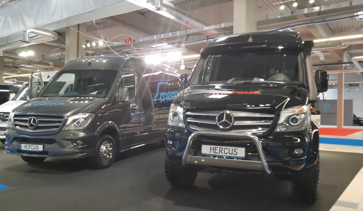Польский автобус Mercus на шасси Mercedes-Benz Sprinter 4х4