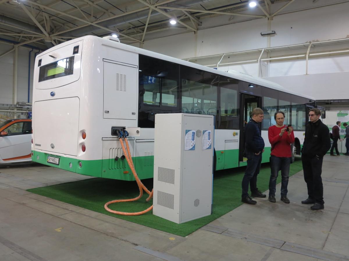 Электробус Skywell c заряднй станцией BIO AUTO