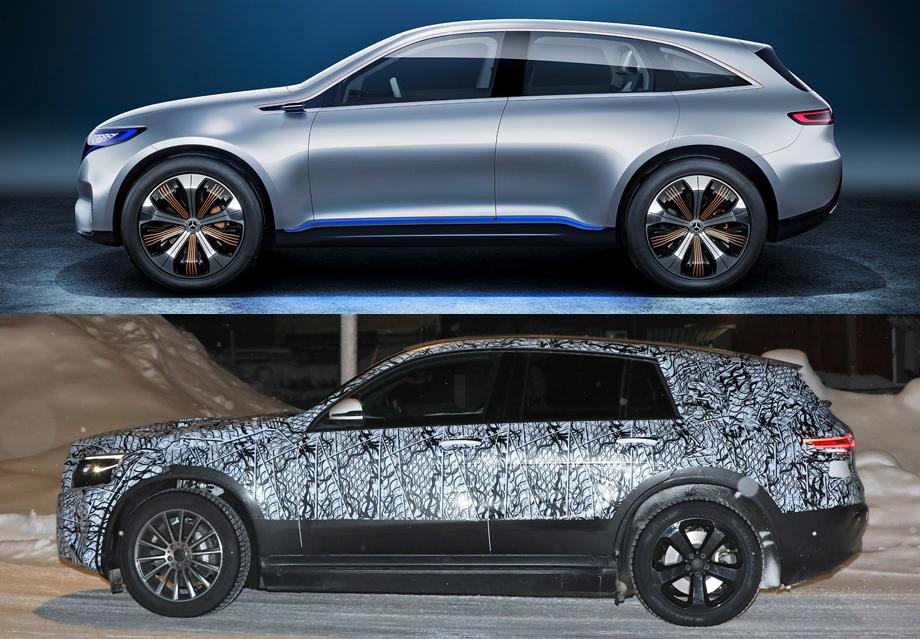 Mercedes EQC SUV тесты