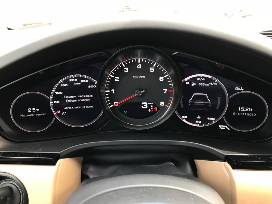 Приборы Porsche Cayenne 2018
