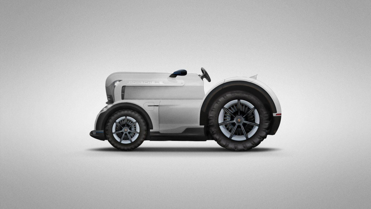 первоапрельские шутки 2018: Porsche 700-сильный гоночный электротрактор