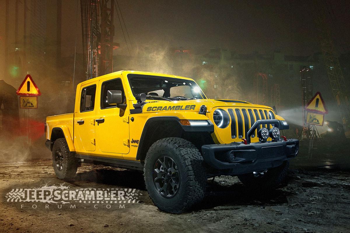 Каким будет новый пикап Jeep Wrangler