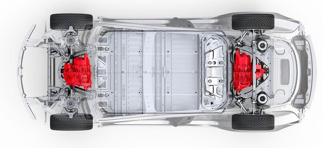 Двухмоторная полноприводная Tesla Model 3