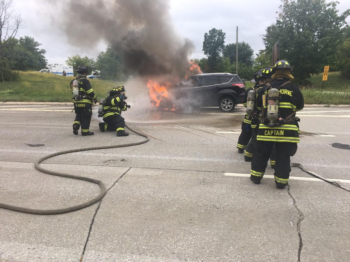 возгорание электромобиля - как тушить загоревшийся электромобиль