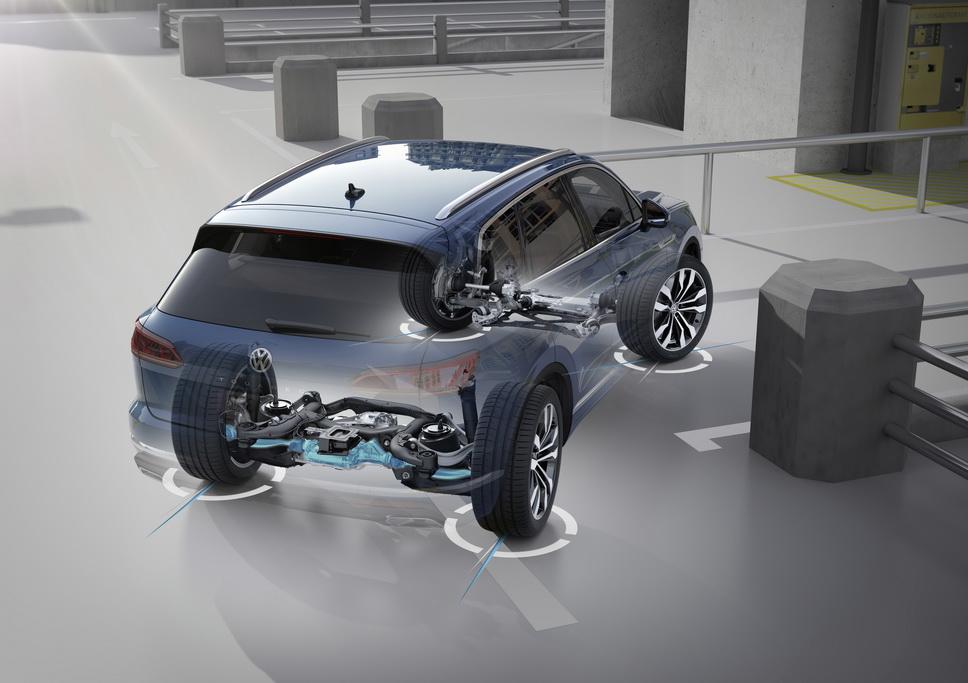 Полноуправляемое шасси Volkswagen Touareg 2018