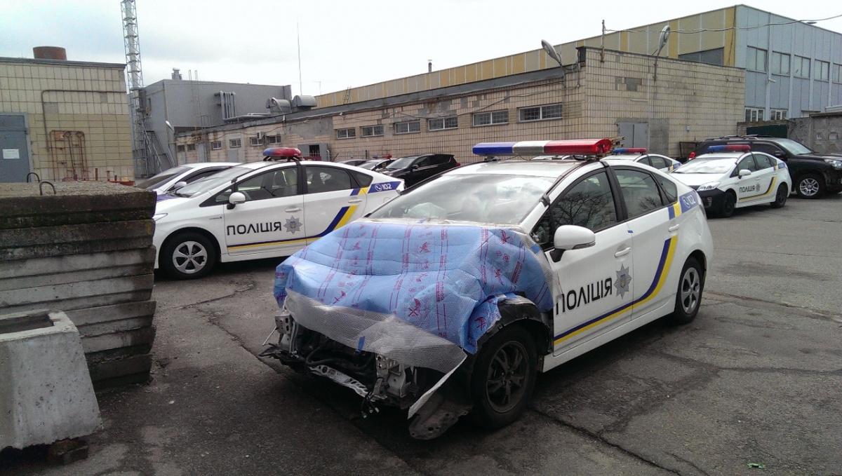 Половина авто Нацполиции разбита в авариях