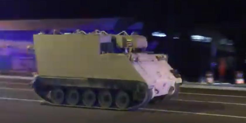 Военнослужащий Нацгвардии два часа убегал от полиции на угнанном БТР