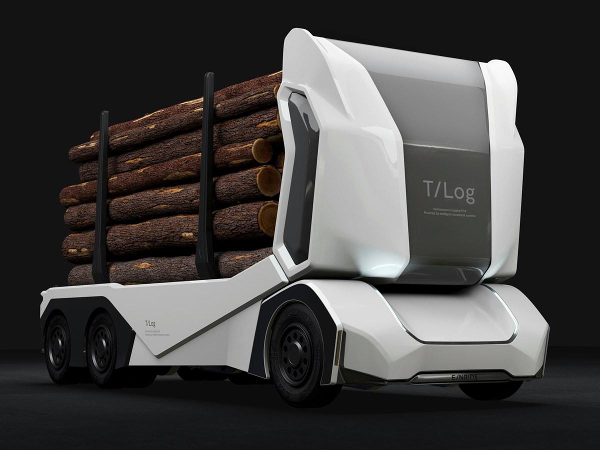 Электрический автономный лесовоз T-log