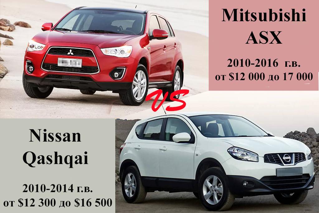 Mitsubishi ASX и Nissan Qashqai