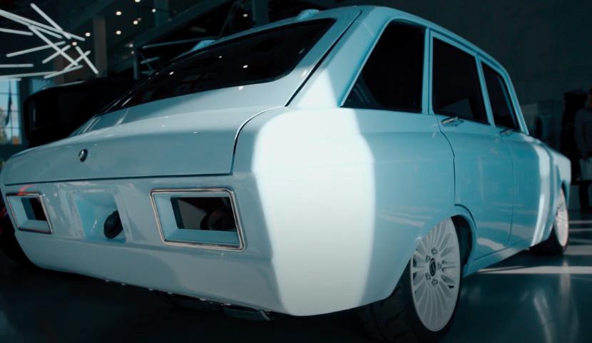 электромобиль CV-1 - вид сзади
