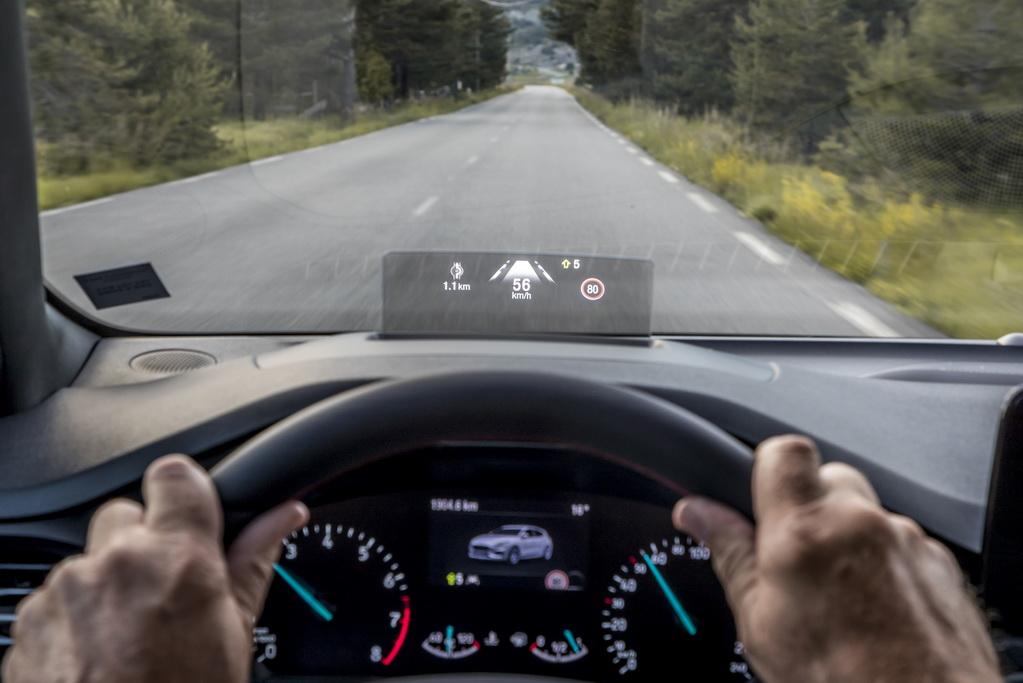 Проекционный дисплей Ford Focus 2018