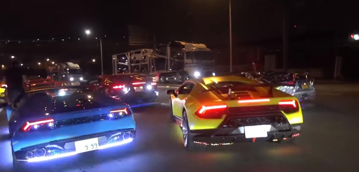 Японский тюнинг Lamborghini на Gumball 3000 2018 года