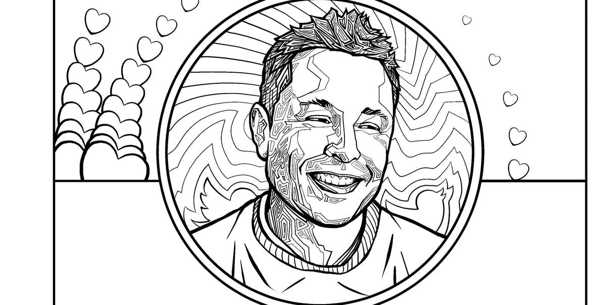 Илон Маск в графике