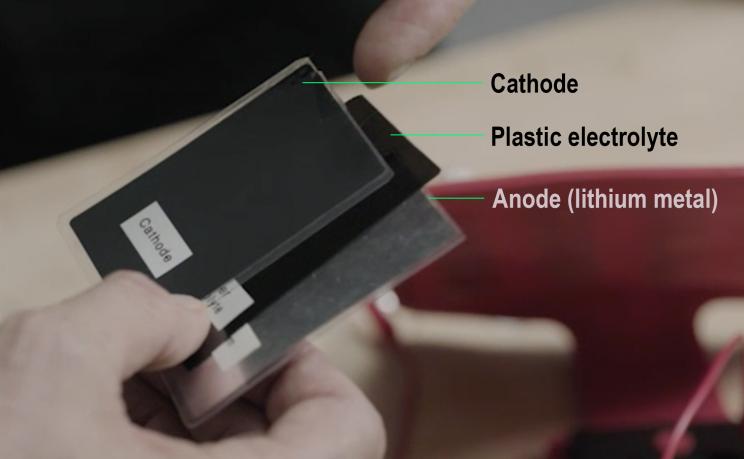 твердотельная батарея Ionic конструкция