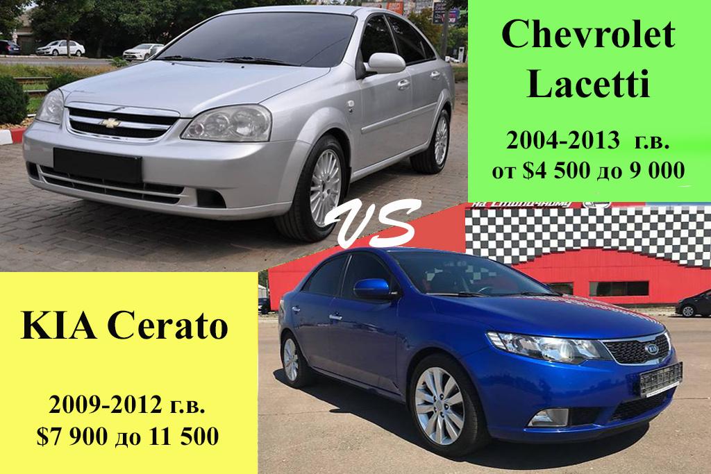 Chevrolet Lacetti против KIA Cerato