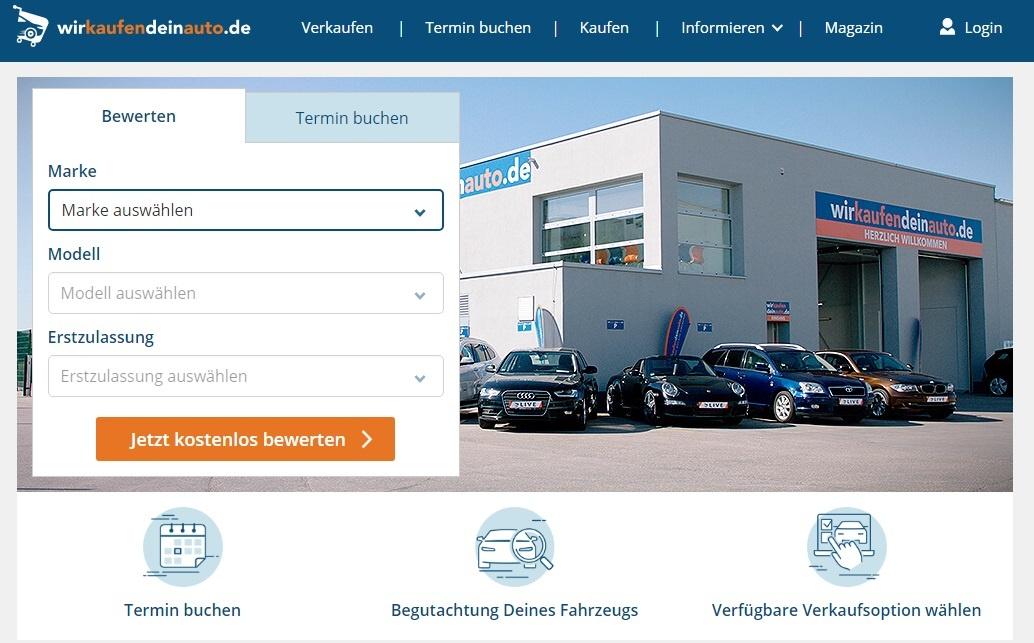 9e28f9645e2d5 сайты объявлений по продаже авто в Германии - Wirkaufendeinauto.de