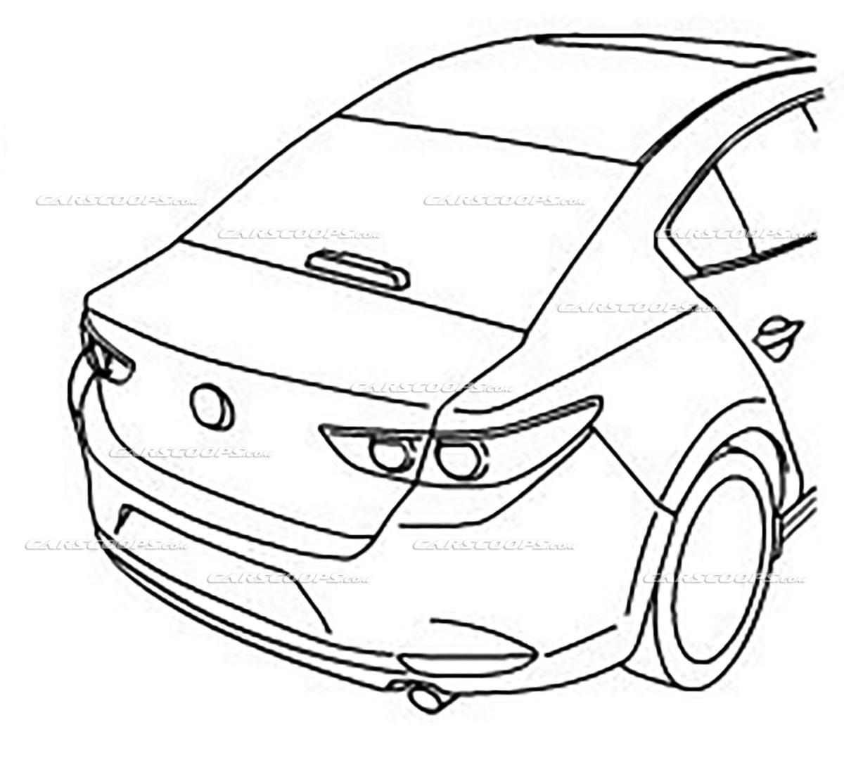 Первые изображения новой Mazda 3 2019