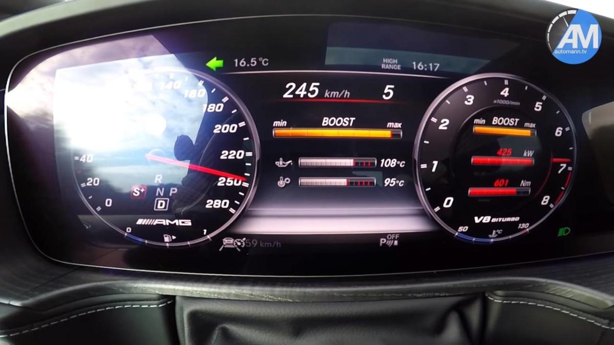 Как разгоняется новый Mercedes-AMG G63 2019