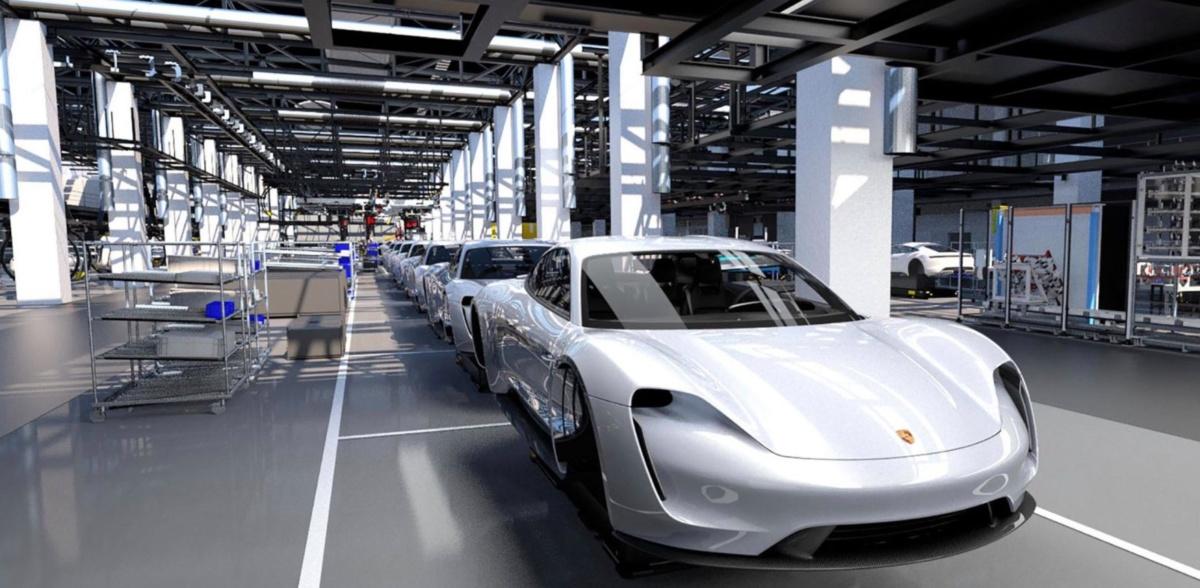 производство Porsche Taycan