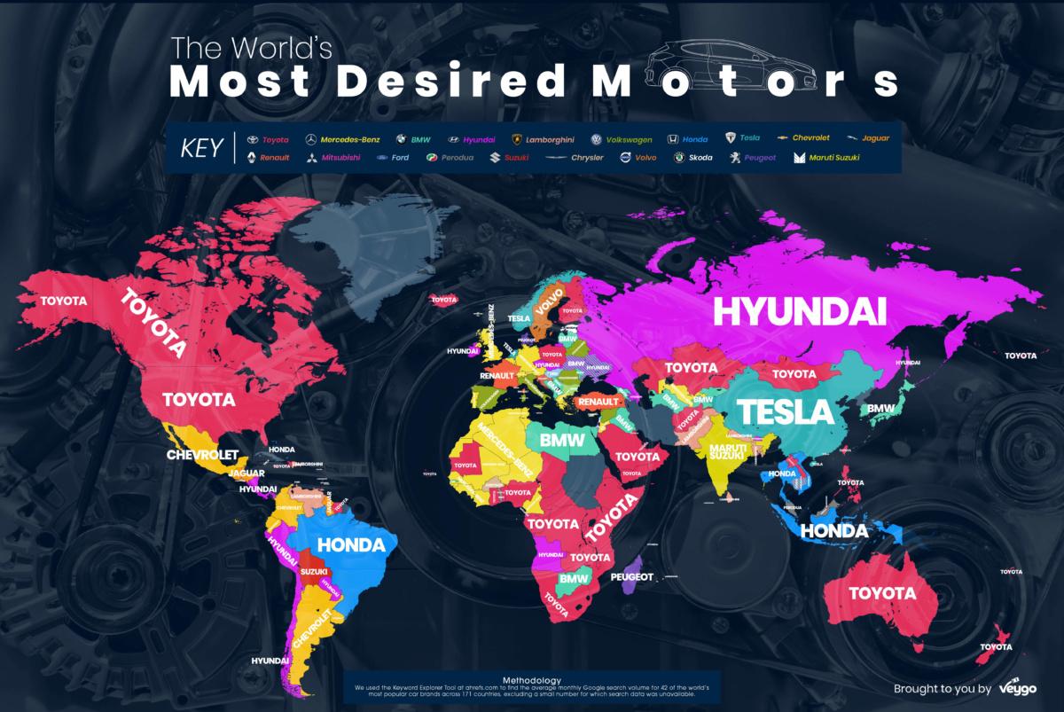 Названы самые популярные авто в интернете
