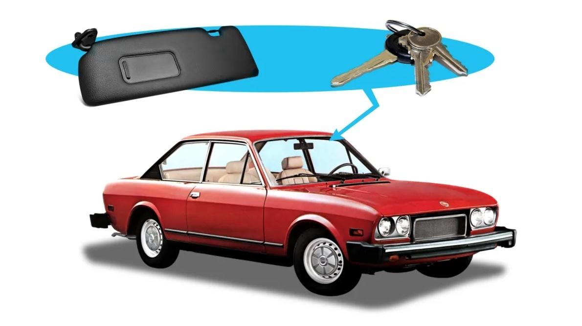 Сев в автомобиль, персонаж всегда найдет ключи за противосолнечным козырьком