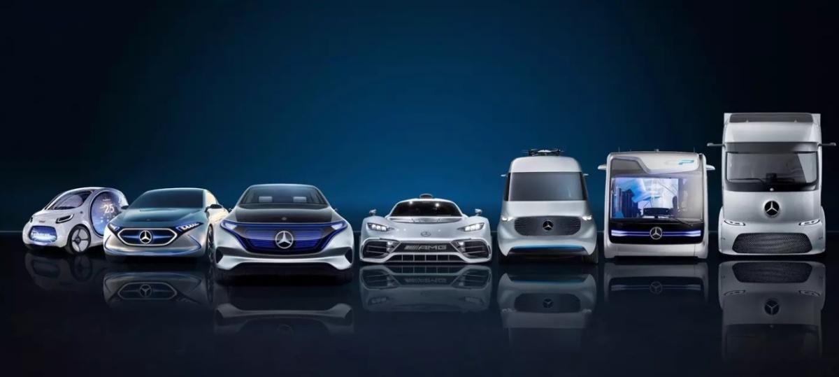 линейка электромобилей Daimler