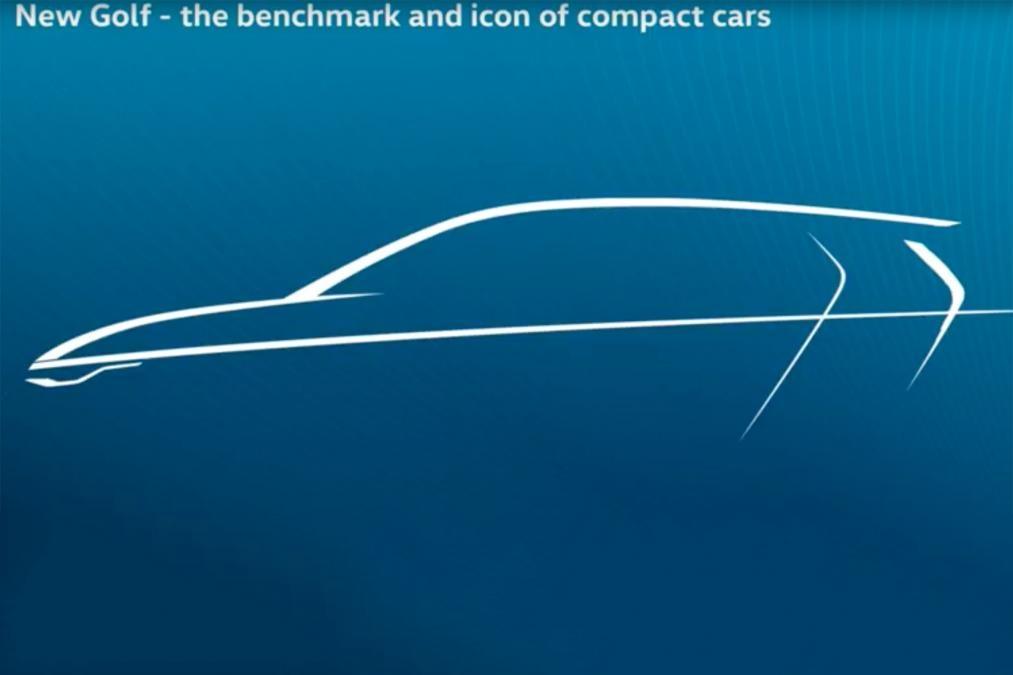 Фольксваген продемонстрировал первое изображение нового VW Golf