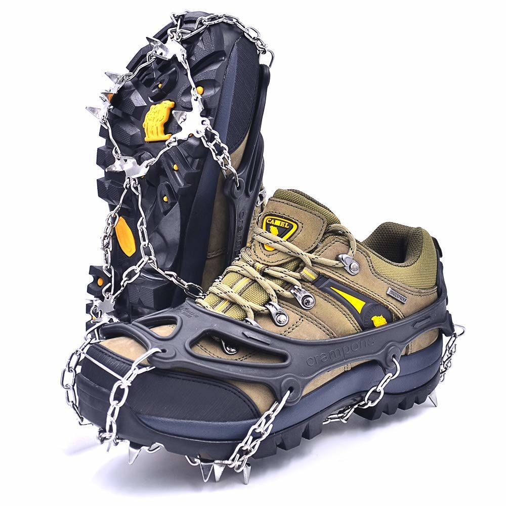 Подарки для автомобилистов на Новый год - противоскользящие цепи на обувь
