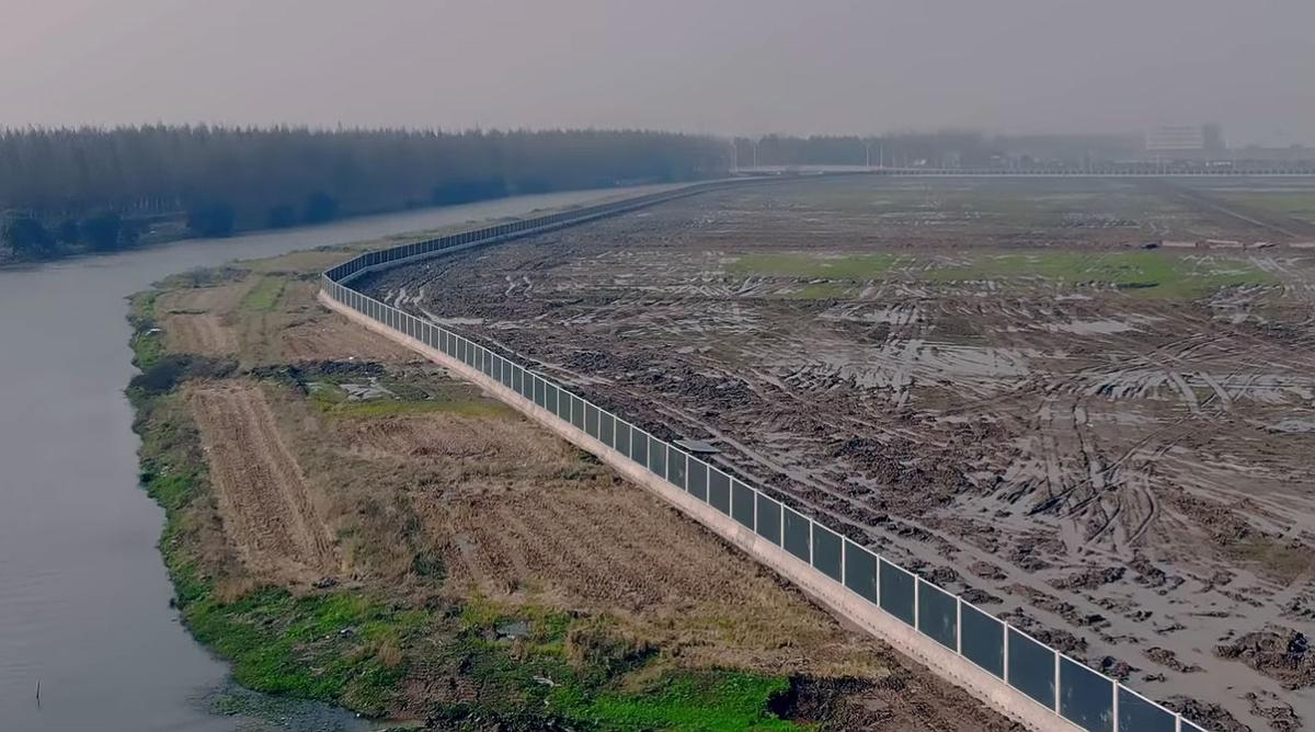 Территория будущего завода Tesla Gigafactory 3