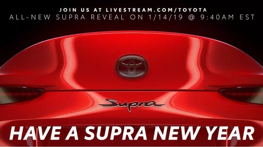 Тойота представляет очередной тизер обновлённой Supra 2020
