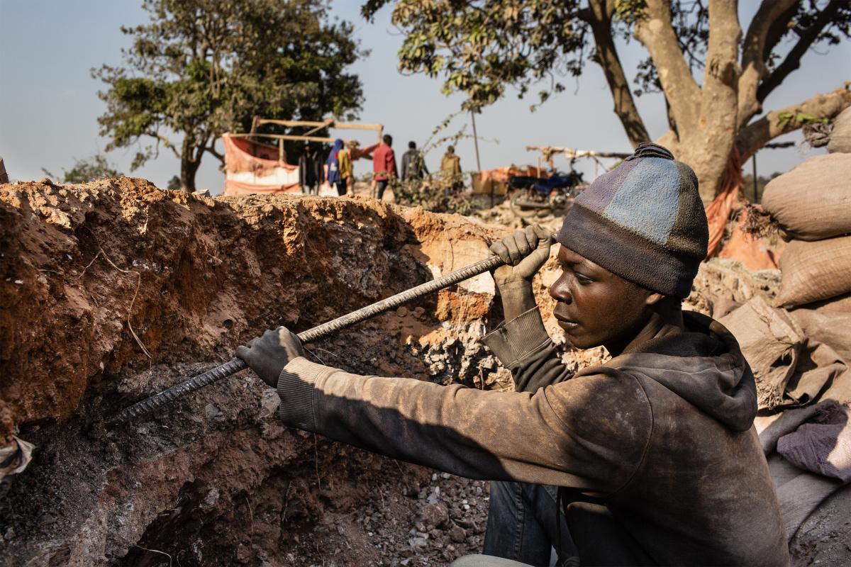 Добыча кобальта в Демократической республике Конго