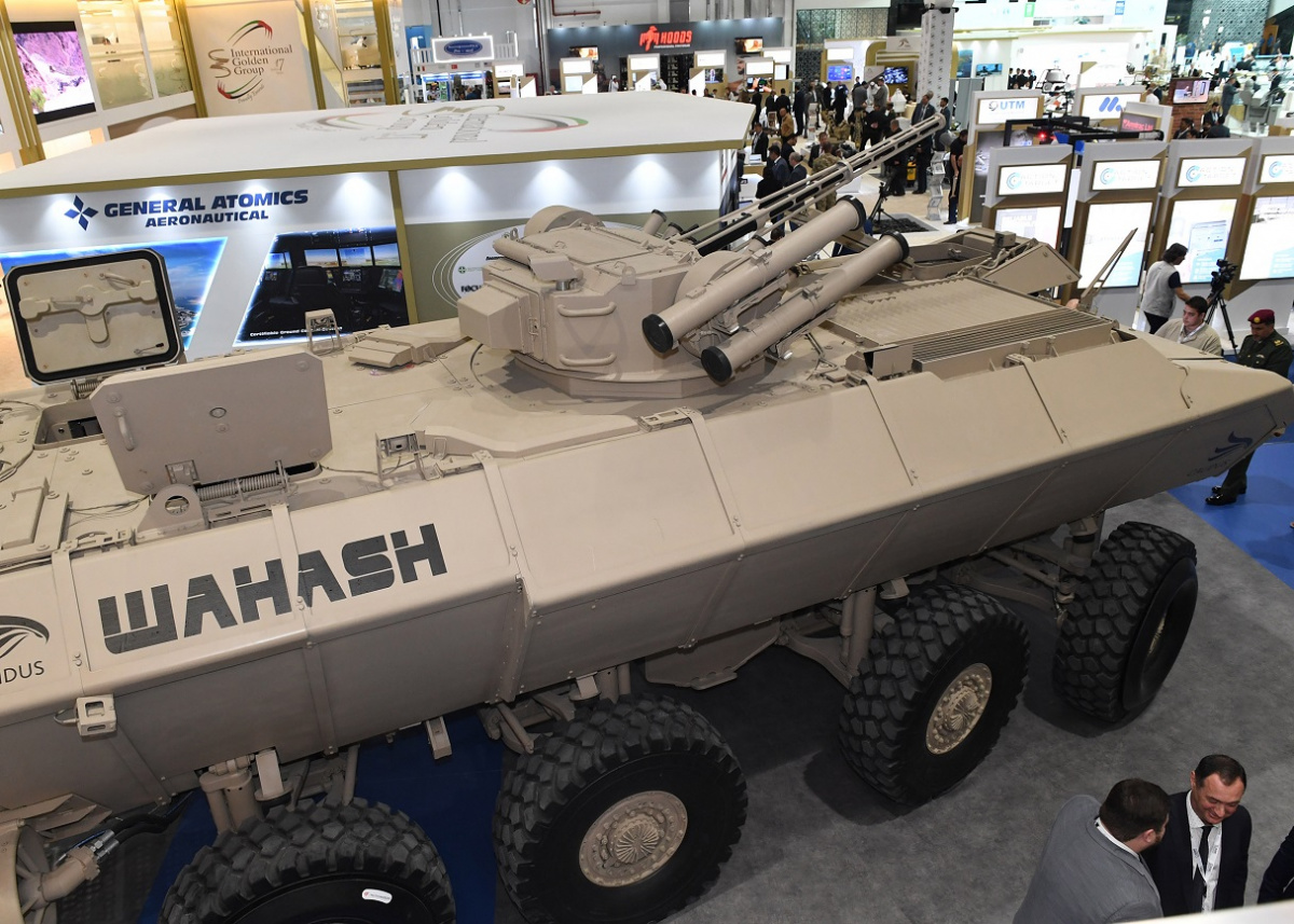 Бронетранспортер Al-Wahash с боевым модулем БМ-3М «Штурм»