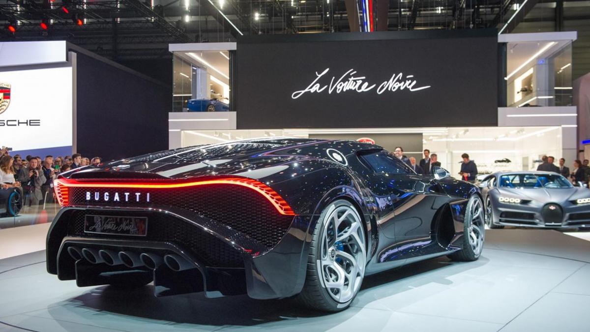 Bugatti La Voiture Noire на Женевском автосалоне