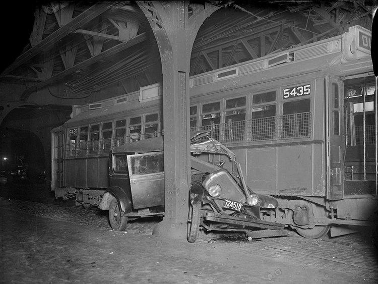 ДТП 30-х годов фотоколлекция: автомобильная авария_5